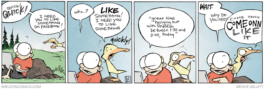 strip for May / 9 / 2014 - Quick! I need you to like this on Facebook!