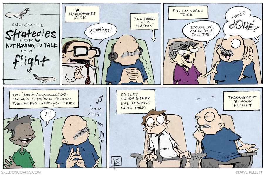 strip for May / 29 / 2014 - Talking on an Airplane