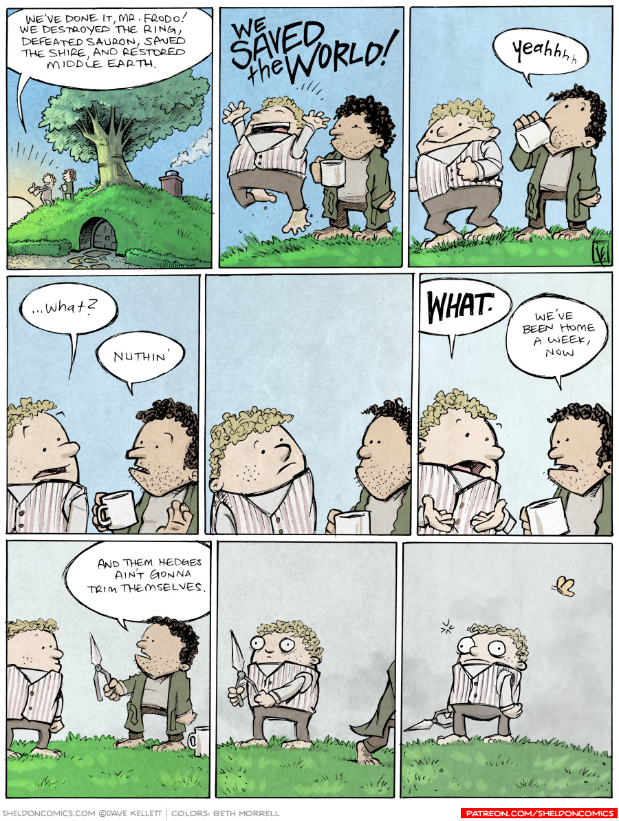 strip for June / 4 / 2014 - Lord of the Rings: After the Credits
