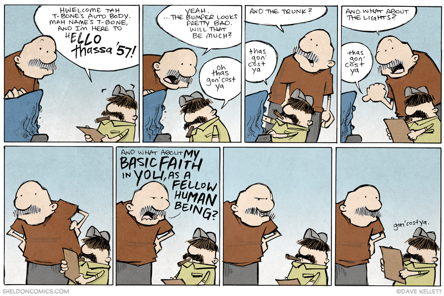 strip for June / 12 / 2014 - T-Bone's Auto Body