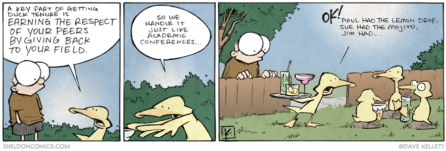 strip for June / 18 / 2014 - Duck Tenure, part 3