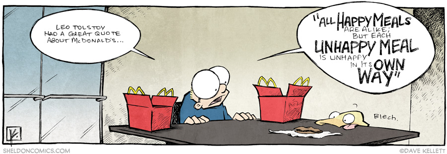 strip for June / 23 / 2014 - Tolstoy on McDonald's
