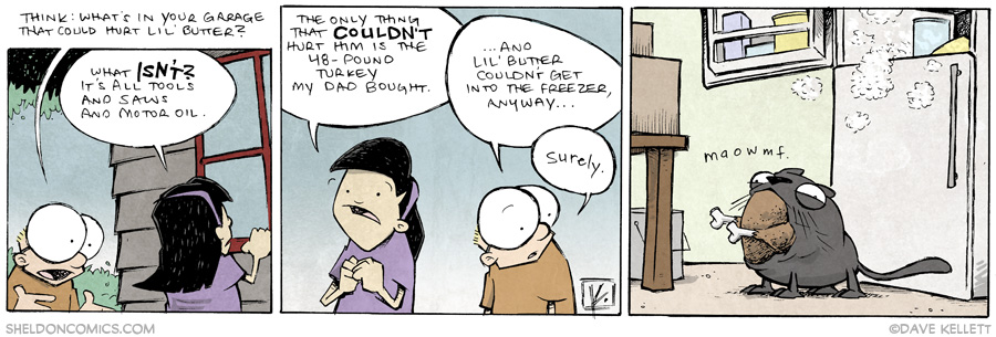 strip for June / 26 / 2014 - Lil Butter Lil Stuck, part 2