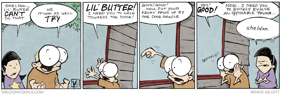 strip for June / 27 / 2014 - Lil Butter, Lil Stuck, part 3