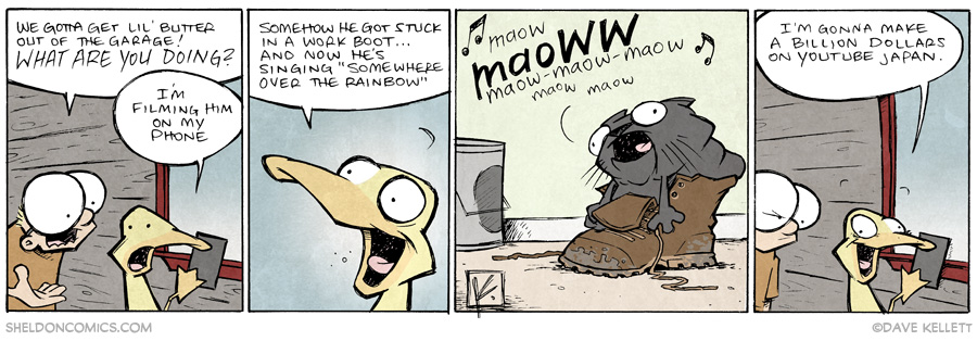 strip for July / 1 / 2014 - Lil Butter Lil Stuck, part 5