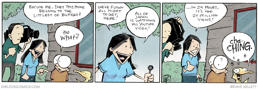 strip for July / 2 / 2014 - Lil Butter, Japanese Internet Sensation, part 1