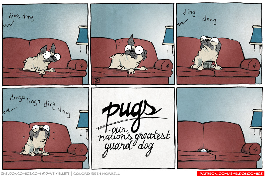 strip for July / 24 / 2014 - Pugs: Guard Dogs?