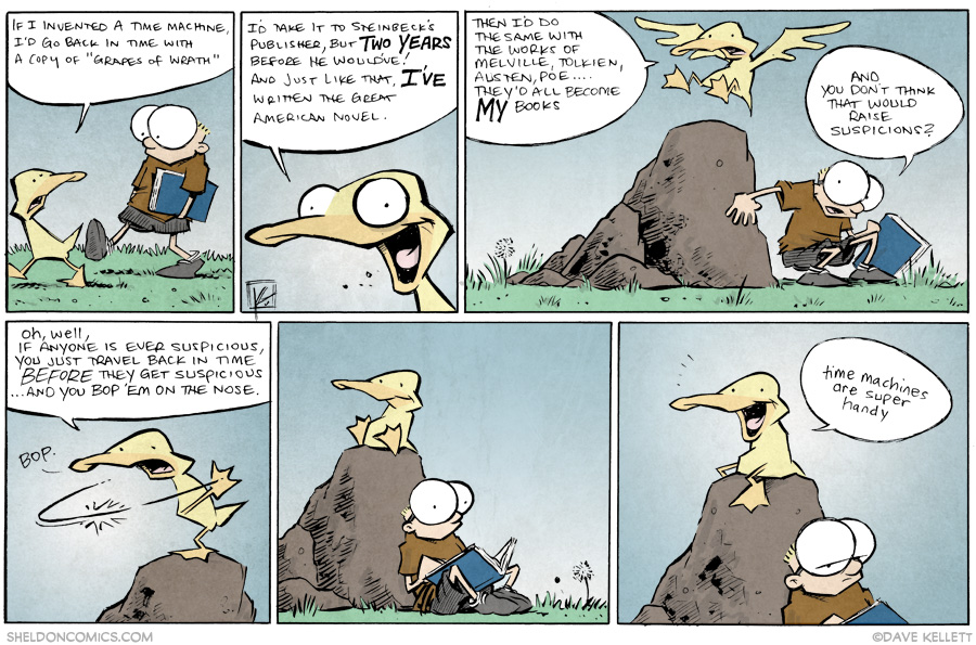 strip for August / 6 / 2014 - Time Travel Comes in Handy