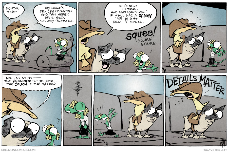 strip for August / 7 / 2014 - The New Adventures of Rex Chestington