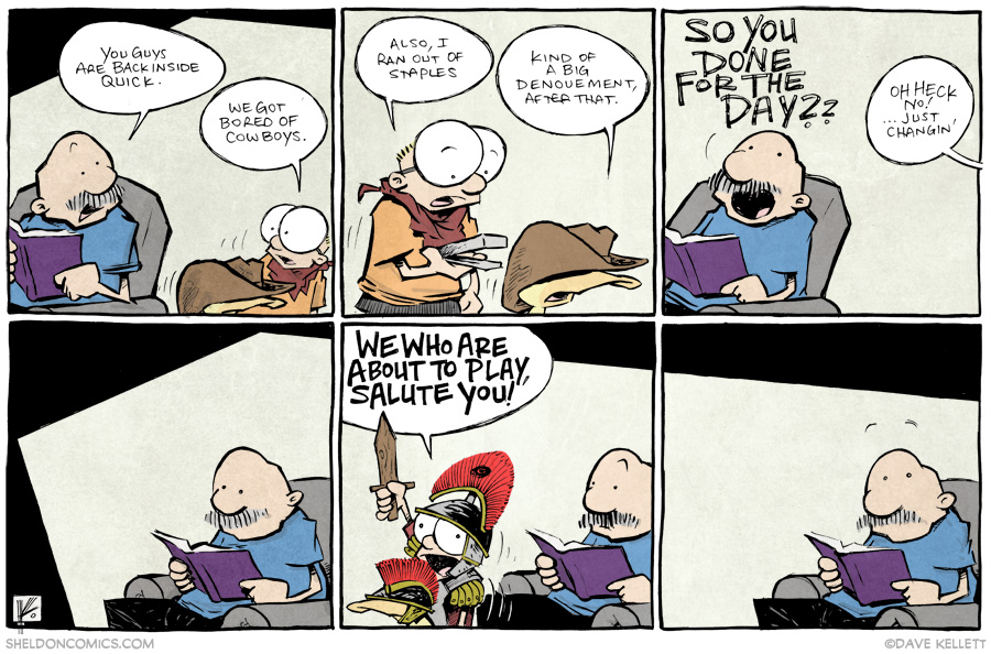 strip for August / 18 / 2014 - We who are about to play, salute you!