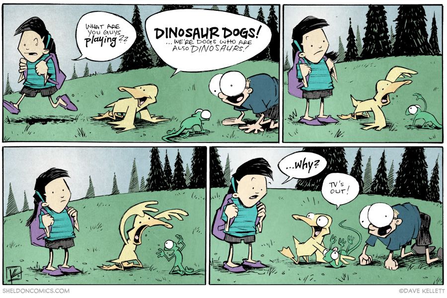 strip for September / 2 / 2014 - Dinosaur Dogs