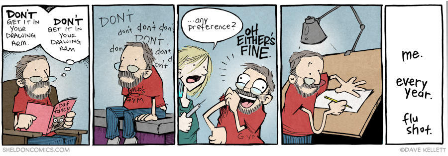 strip for October / 1 / 2014 - Flu Shots
