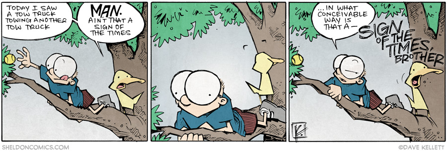 strip for October / 8 / 2014 - Sign o' the times