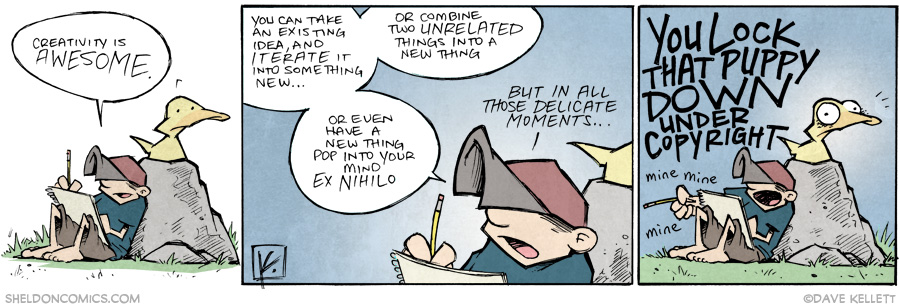 strip for October / 22 / 2014 - Those rare, delicate moments of creativity...