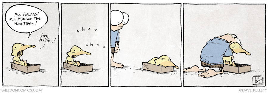 strip for October / 28 / 2014 - The Hug Train: Final Stop