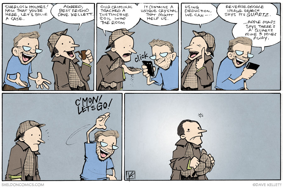 strip for November / 6 / 2014 - Sherlock Holmes and his Best Friend, Dave Kellett