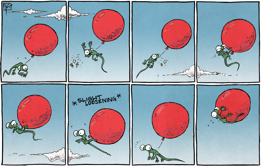 strip for December / 18 / 2014 - Biting the hand that floats you