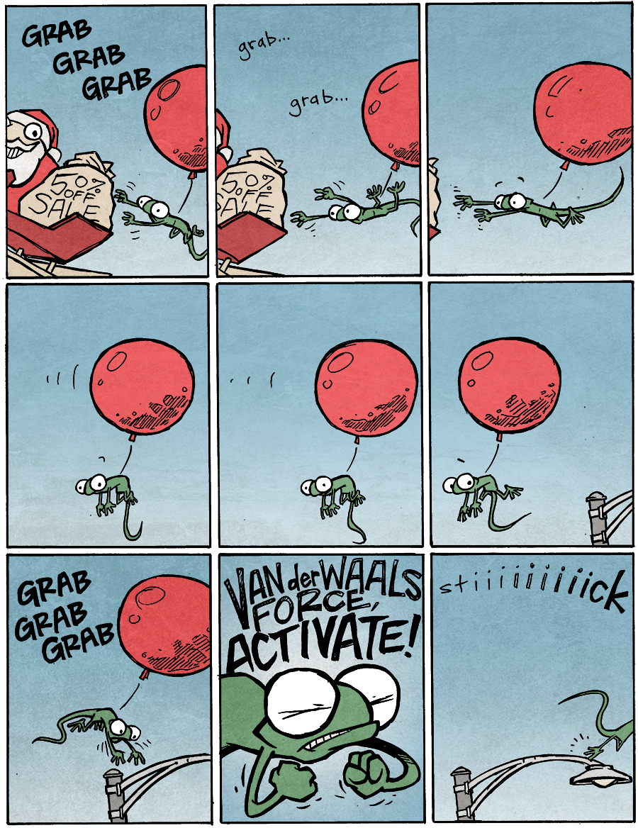 strip for December / 22 / 2014 - Van der Waals Force...ACTIVATE!