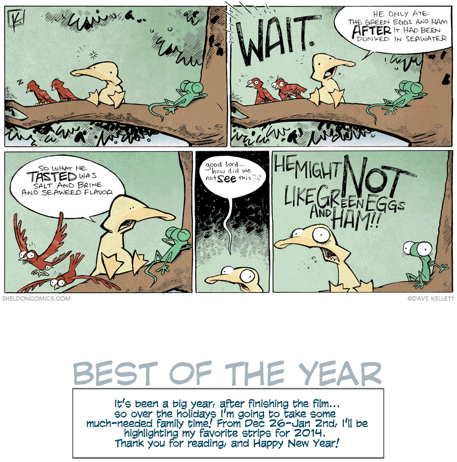 strip for December / 29 / 2014 - Green Eggs and Ham is a Lie