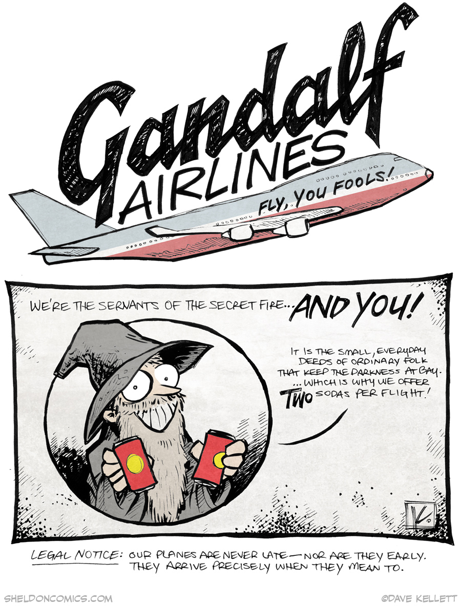 strip for January / 8 / 2015 - Gandalf Airlines