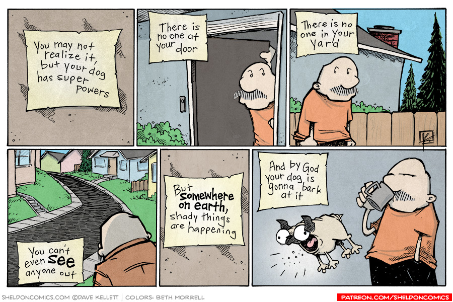 strip for January / 13 / 2015 - Your Dog Has Super Powers