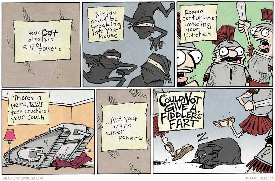 strip for January / 14 / 2015 - Your Cat ALSO has superpowers