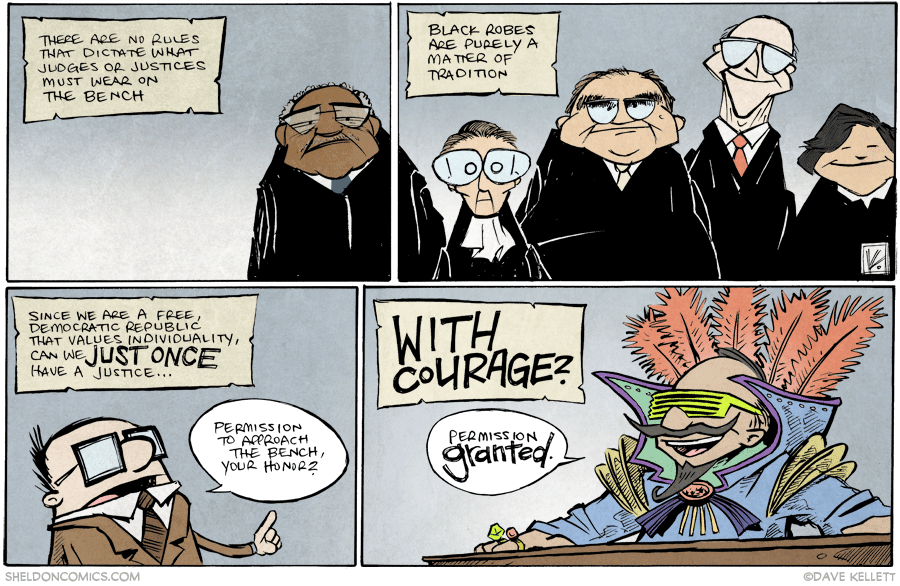 strip for January / 22 / 2015 - You probably didn't know why judges wear black...