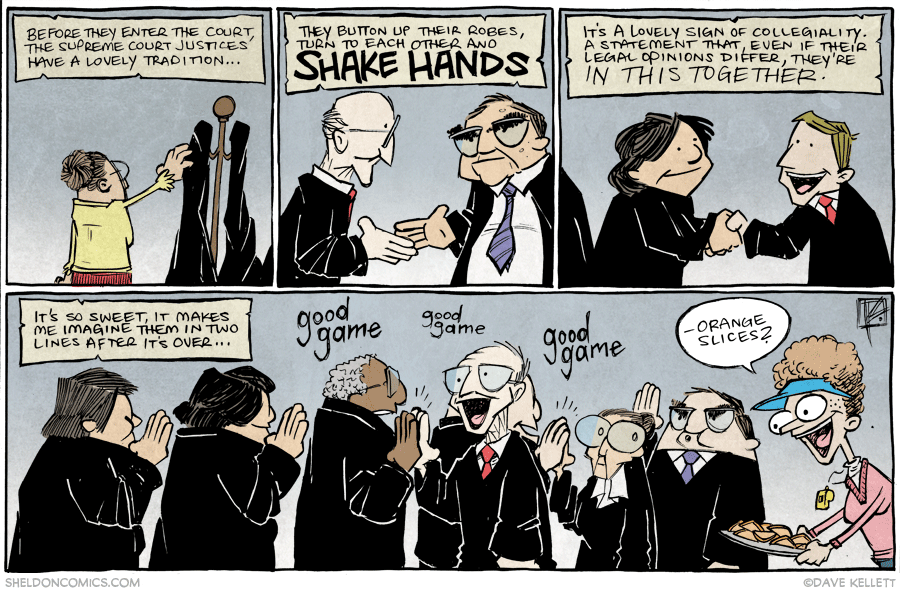 strip for January / 23 / 2015 - Real Life Traditions of the Supreme Court