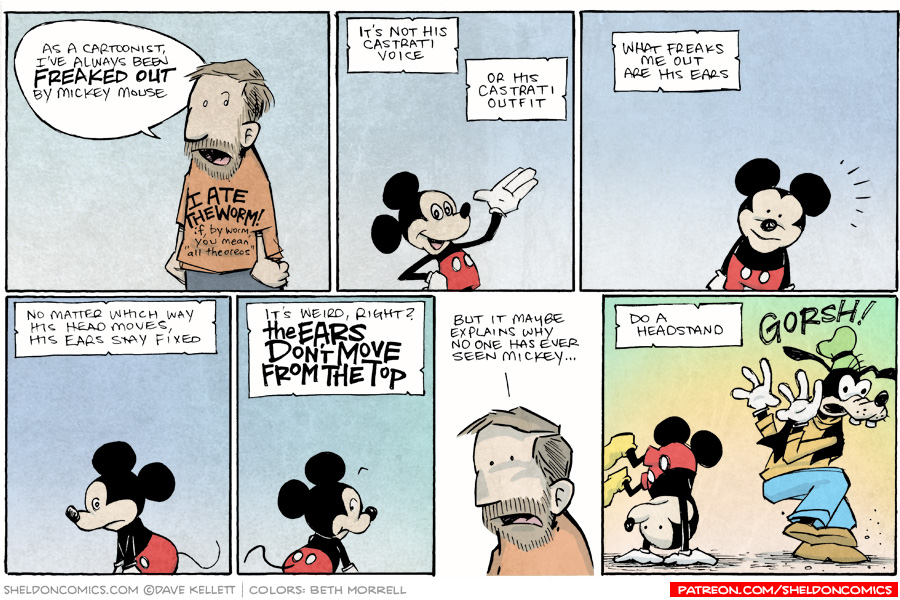 strip for February / 20 / 2015 - Mickey Mouse Has Always Freaked Me Out
