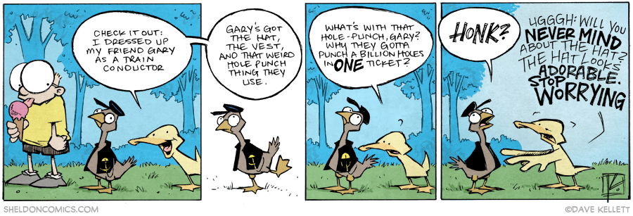 strip for March / 6 / 2015 - Adowable Widdle Twain Conductor