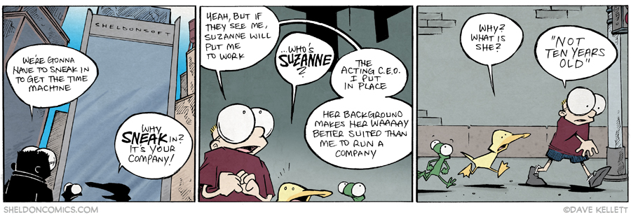 strip for March / 10 / 2015 - Sneaking In