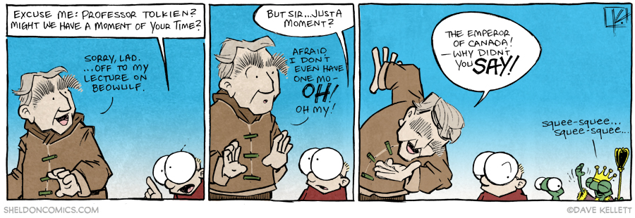 """strip for March / 23 / 2015 - How to Stop JRR Tolkien (or, """"Dave Likes Going Back to this Well"""")"""