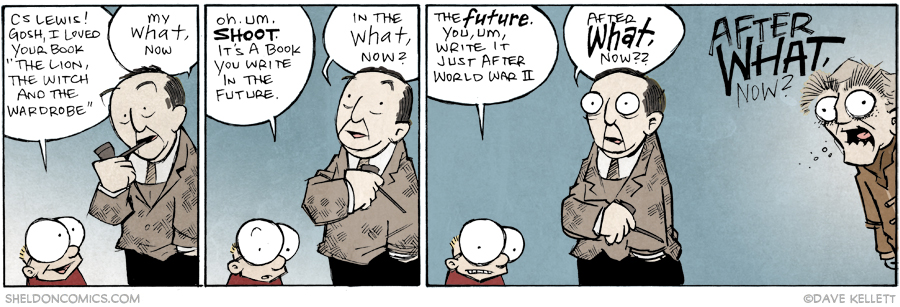 strip for March / 26 / 2015 - *uncomfortable laugh* Aaaaanyway, the book's a big hit, Mr. Lewis. I'll show myself out.