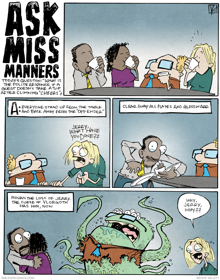 strip for April / 30 / 2015 - Ask Miss Manners