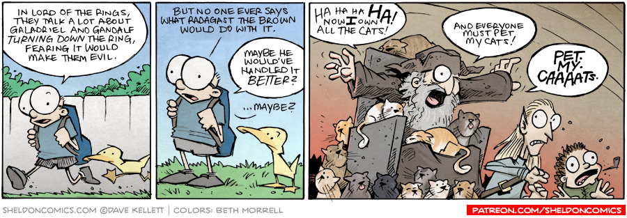 strip for September / 1 / 2015 - All hail the Dark Lord, Radagast the Brown