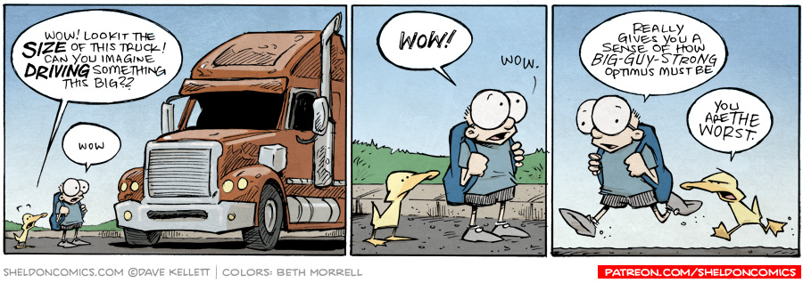 strip for September / 2 / 2015 - Can you imagine actually driving a big rig?