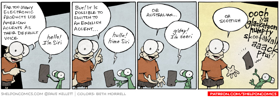 strip for October / 5 / 2015 - Changing the accent on your phone's voice