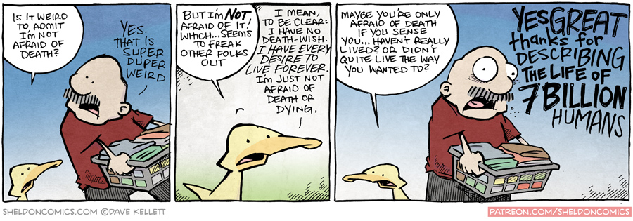strip for October / 8 / 2015 - Is it weird to admit I'm not afraid of death?