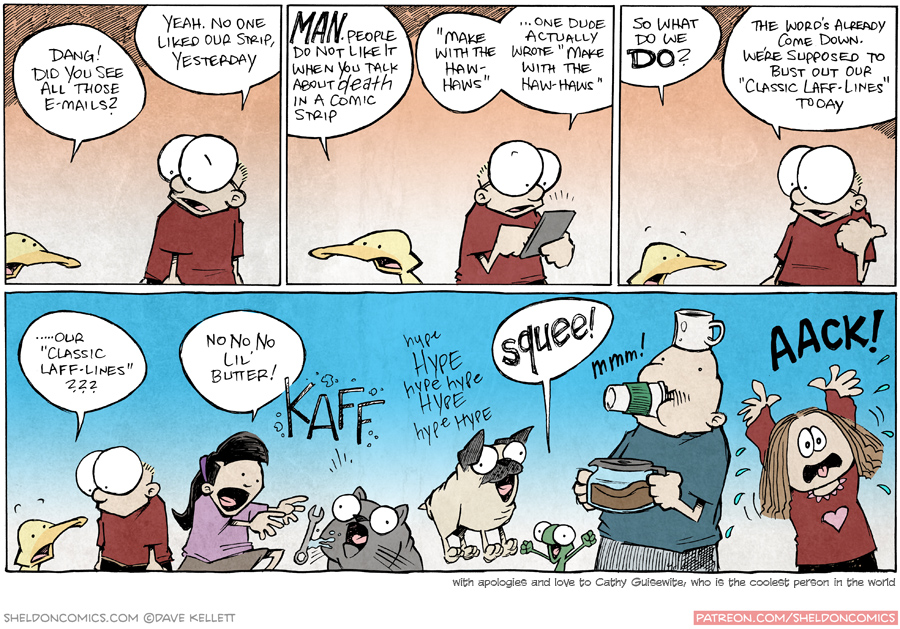 strip for October / 9 / 2015 - Today's strip is about how no one liked yesterday's strip