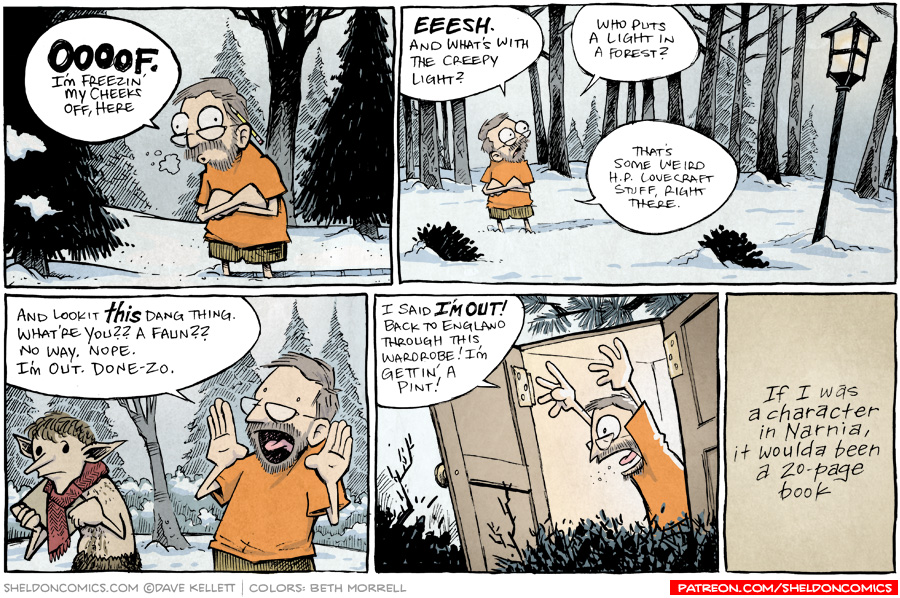 strip for October / 12 / 2015 - I'm not havin' any of this nonsense. I'm out.
