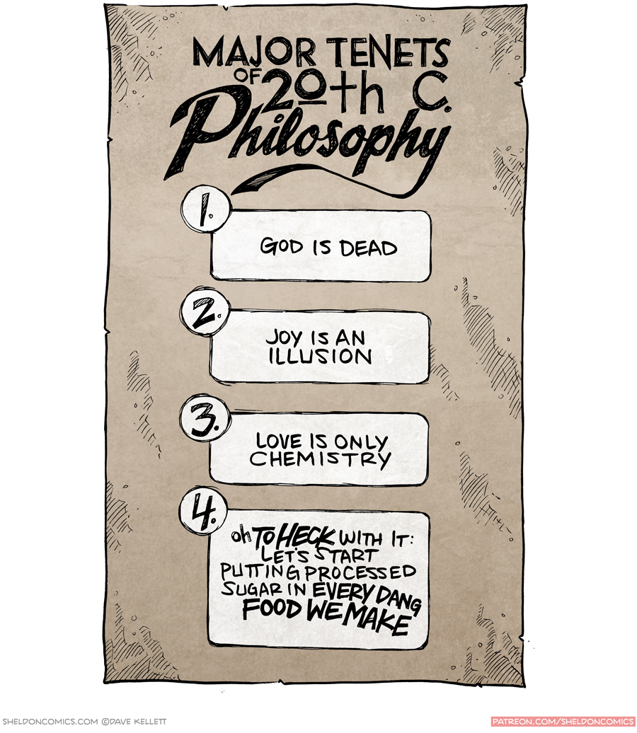 strip for October / 14 / 2015 - Major Tenets of 20th C. Philosophy