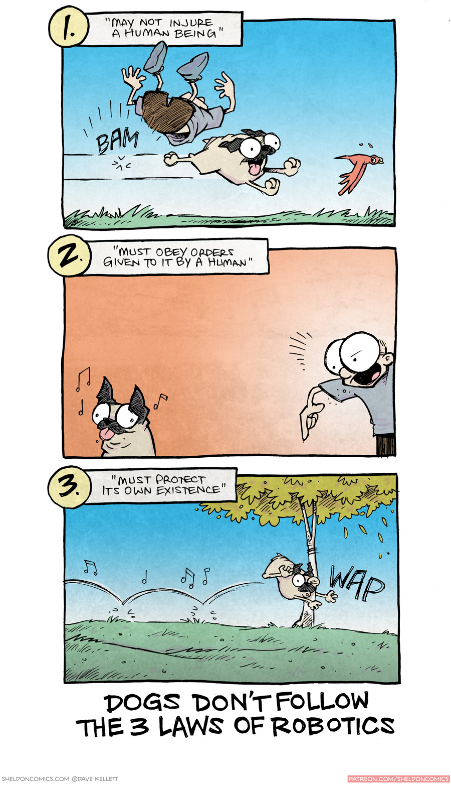 """strip for October / 22 / 2015 - Dogs are """"Man's Best Friend""""?? WAKE UP, SHEEPLE"""