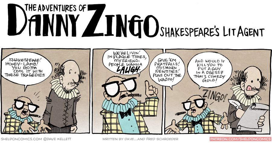 strip for November / 10 / 2015 - Danny Zingo: Shakespeare's Literary Agent (pt 2)