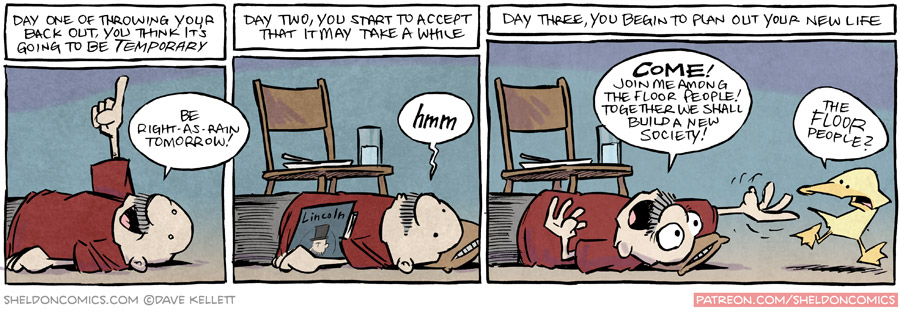 strip for November / 19 / 2015 - Throwing Your Back Out
