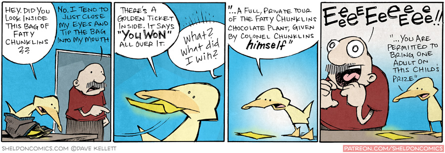 strip for January / 7 / 2016 - Gramps and the Chocolate Factory, part 1
