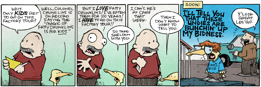 strip for January / 8 / 2016 - Gramps And The Chocolate Factory, Part 2