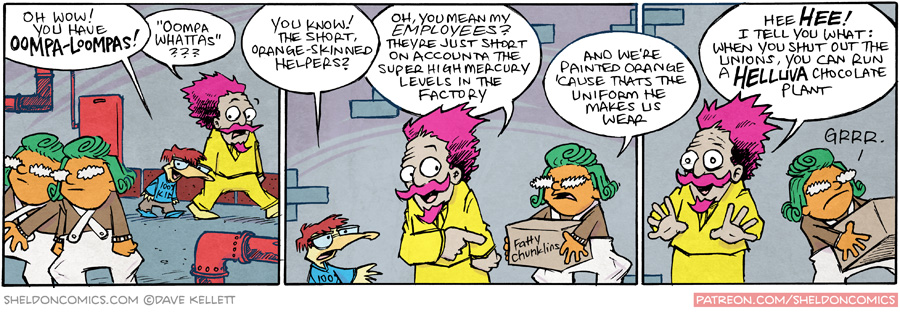 strip for January / 21 / 2016 - Oompa Loompas!