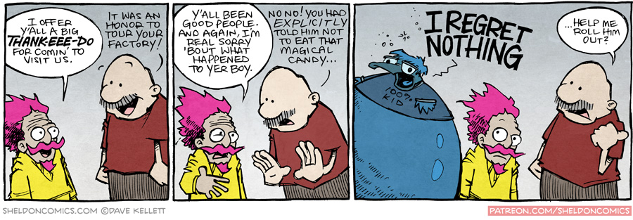 strip for January / 22 / 2016 - Goodbye to the Fatty Chunklins Factory