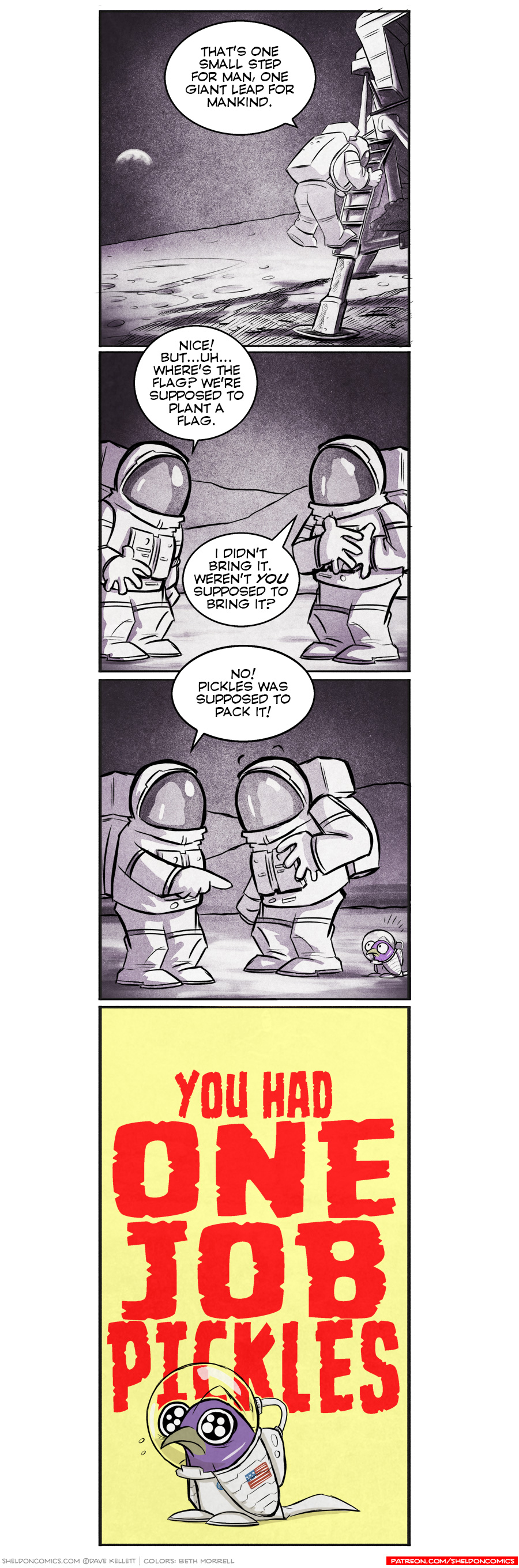 strip for February / 29 / 2016 - That's One Small Step For Man