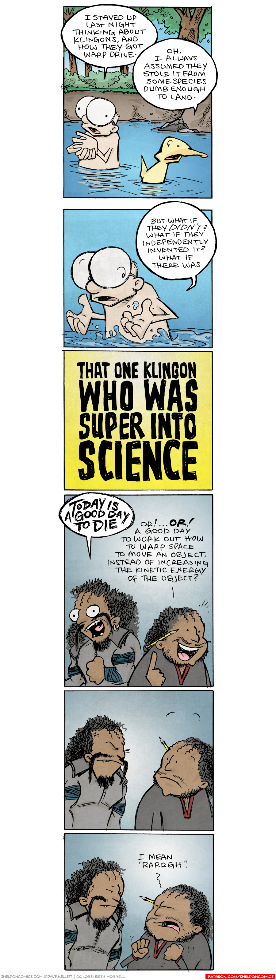 strip for April / 18 / 2016 - How did the Klingons get warp drive?